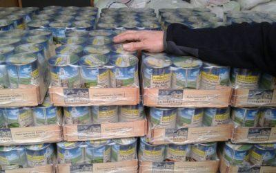 Una tonelada de alimentos para repartir